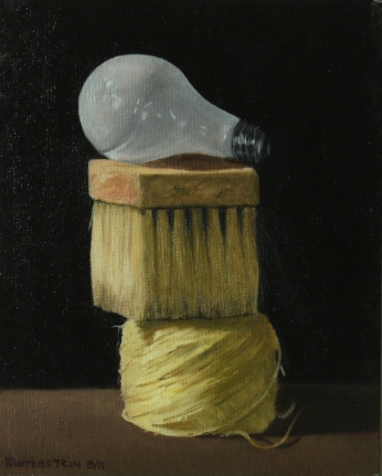 Still Life, oil on canvas board, 10 by 8 inches.