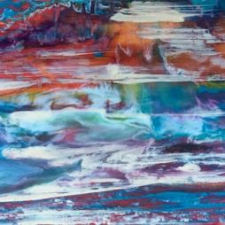"""River Sunrise"", encaustic"